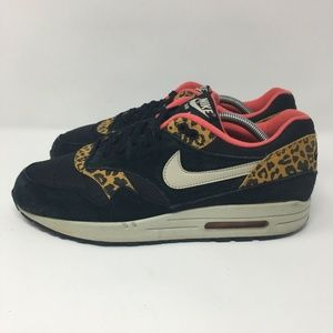 Nike Air Max 1 Black Leopard Print Women
